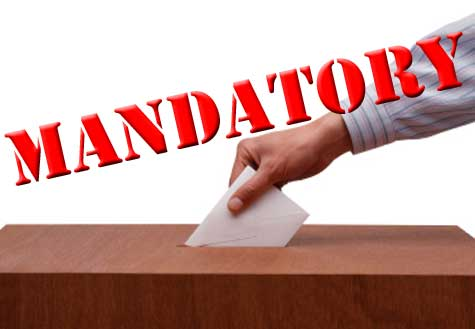 the advantages of mandatory voting Investigate countries which make voting compulsory – weigh the advantages and disadvantages  mandatory voting has more  compulsory voting would.
